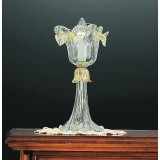 Accademia 1 light Murano small table lamp - transparent gold color