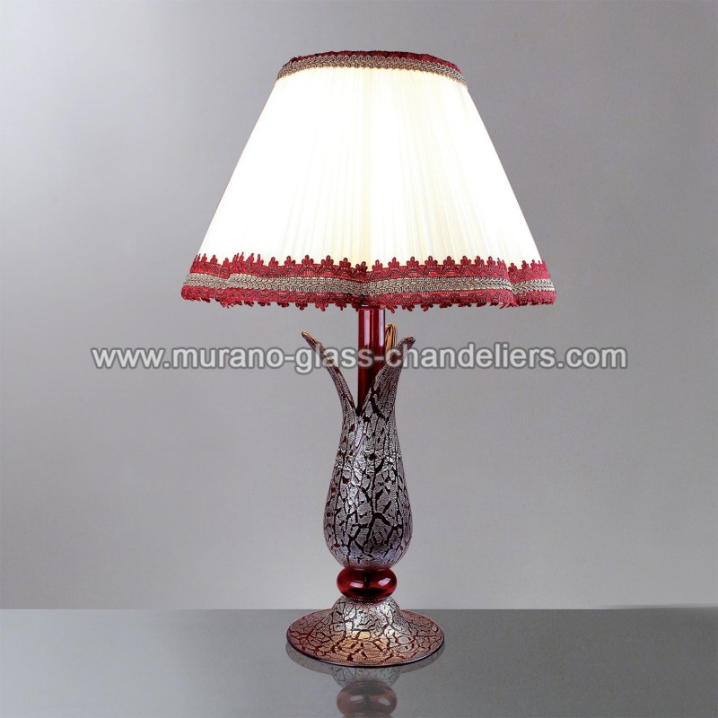 magma murano glass table lamp murano glass chandeliers. Black Bedroom Furniture Sets. Home Design Ideas