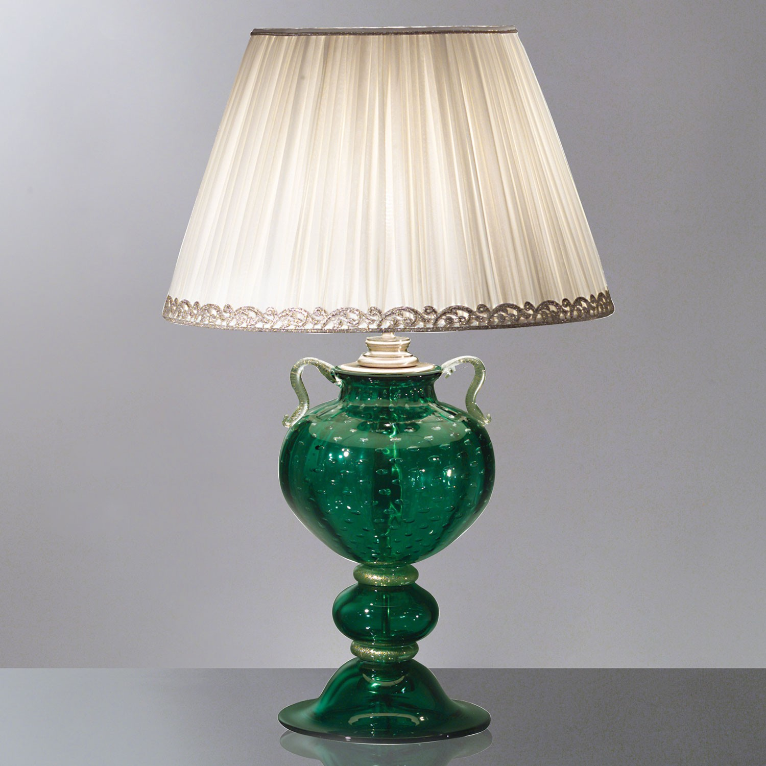 Leandra green murano glass table lamp murano glass chandeliers leandra green murano glass table lamp murano glass chandeliers mozeypictures Image collections