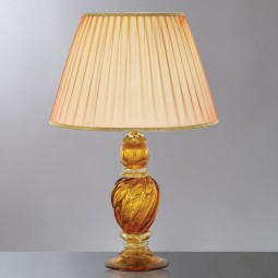 """Selene"" amber Murano glass table lamp"