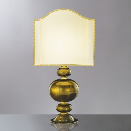 """Nausicaa"" Murano glass gold table lamp"