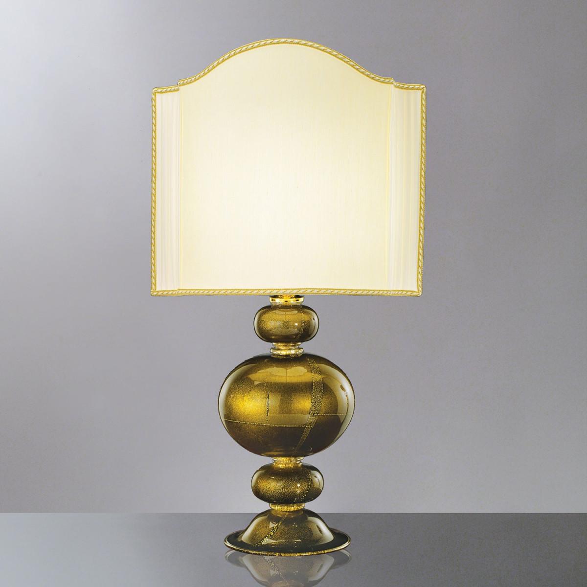 """Nausicaa"" Murano glass gold table lamp"