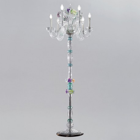 Teodora murano glass floor lamp murano glass chandeliers teodora murano glass table lamp aloadofball Gallery