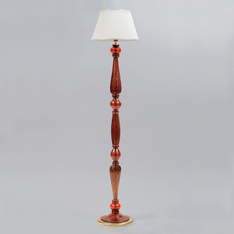 """Pantalone"" red Murano glass floor lamp"