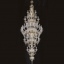 """Barberini"" Murano glass chandelier -  50 lights"