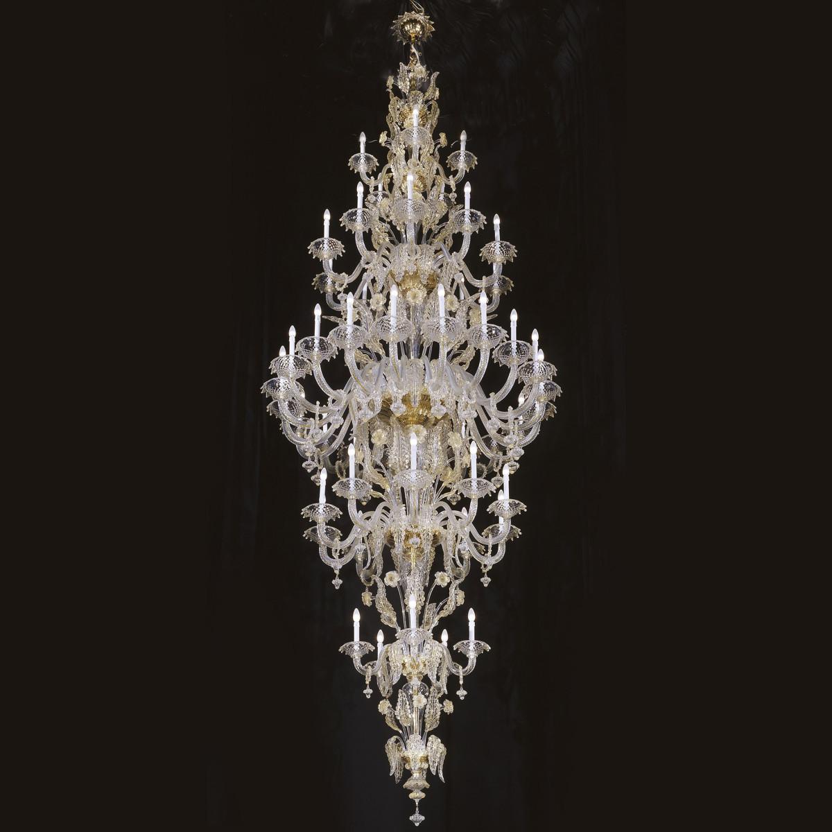 """Barberini"" lampara de araña de Murano - 50 luces"