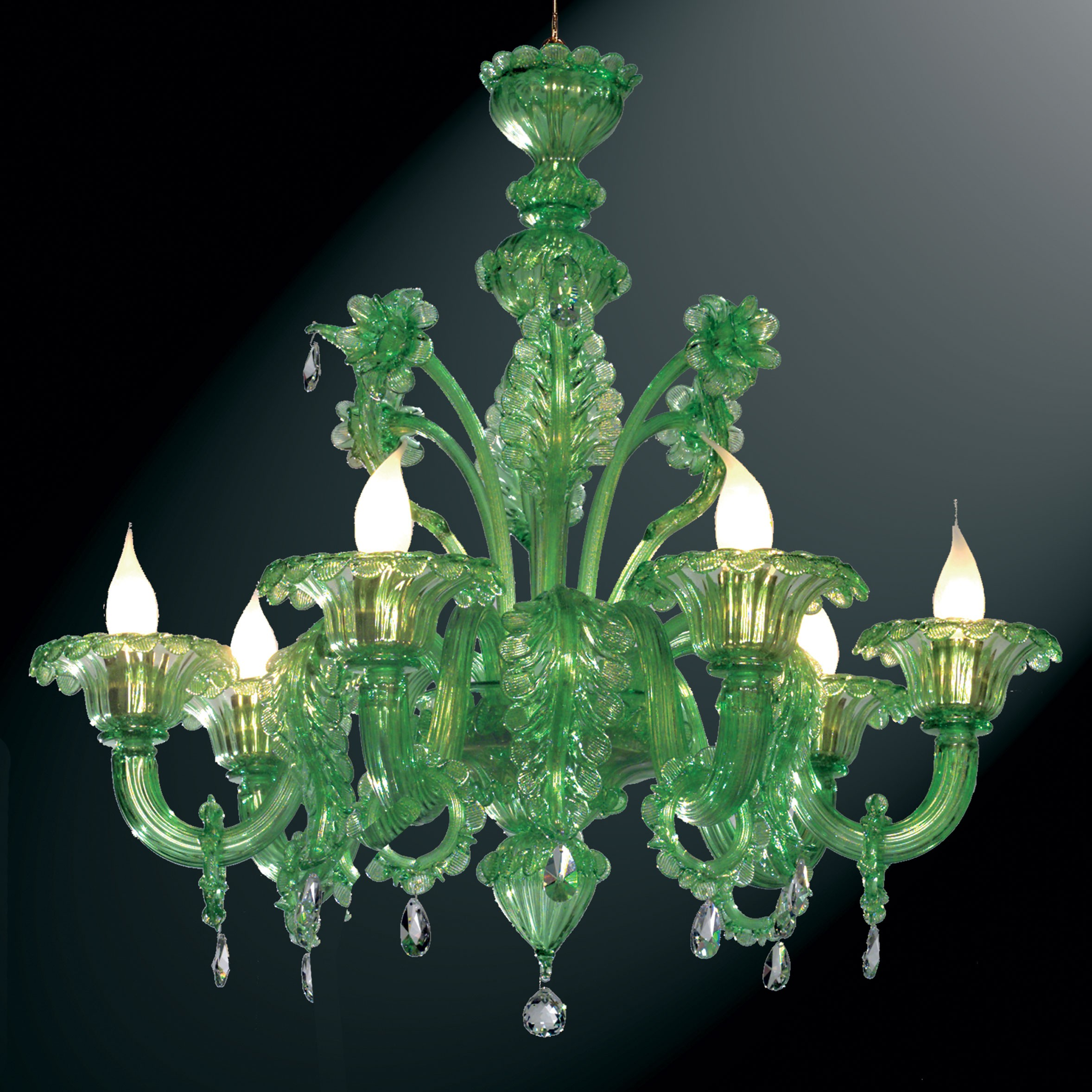 Giada green murano glass chandelier murano glass chandeliers giada green murano glass chandelier murano glass chandeliers arubaitofo Image collections
