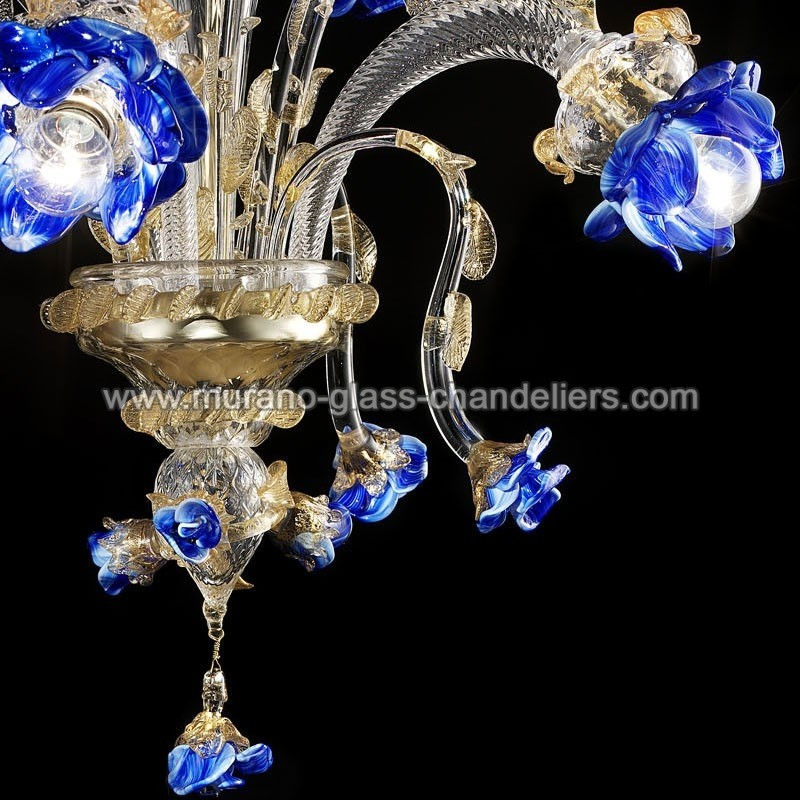 "Small Murano Crystal Chandelier: ""Manin"" Murano Glass Chandelier"