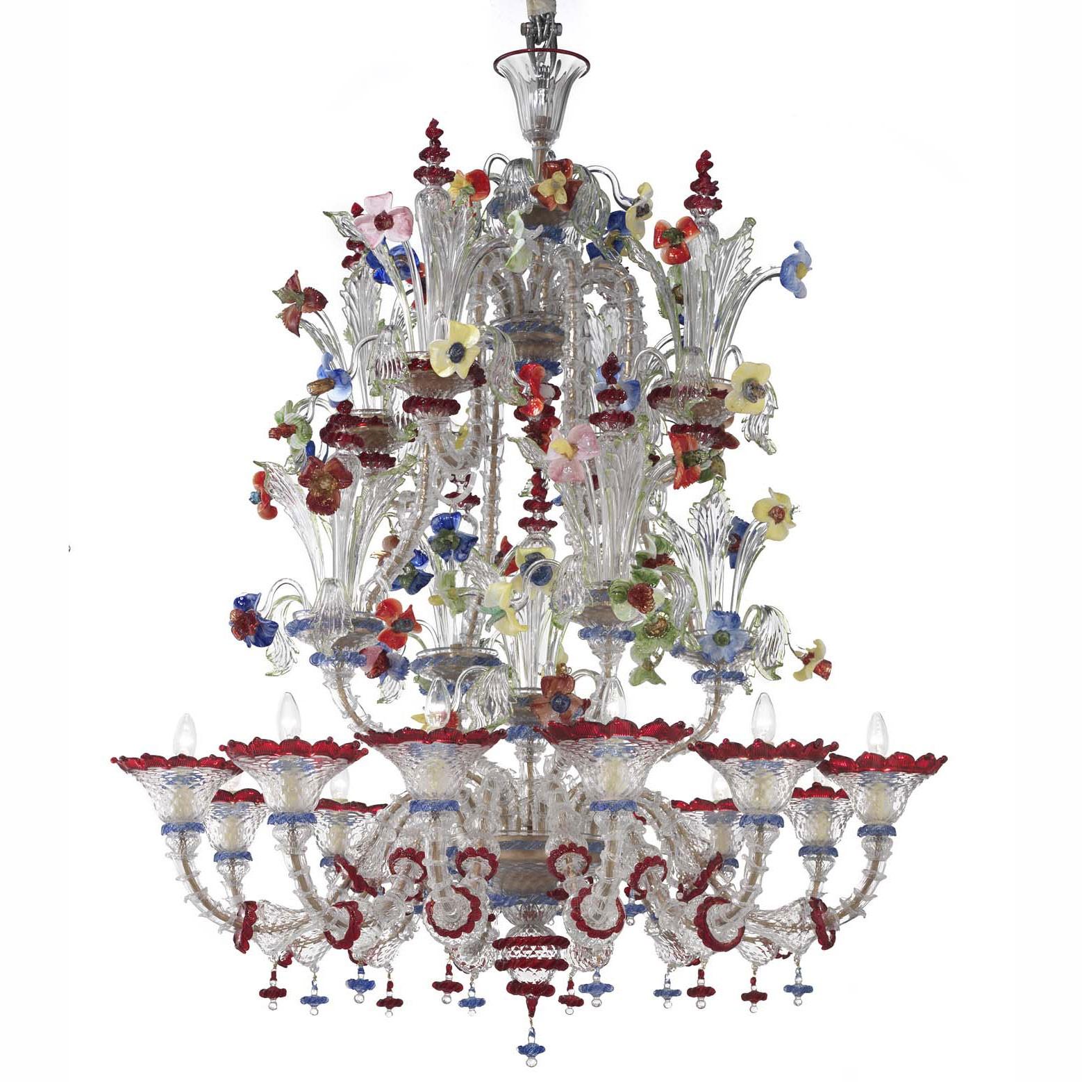 "Santa Fosca"" Murano glass chandelier Murano glass chandeliers"