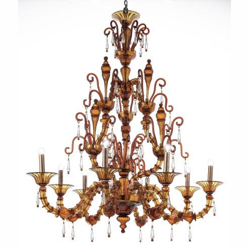 """""""Odisha"""" lampara de araña de Murano"""