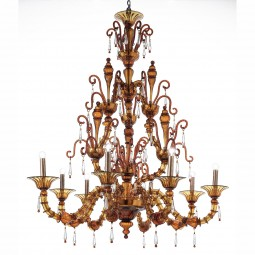 """Odisha"" Murano glass chandelier"