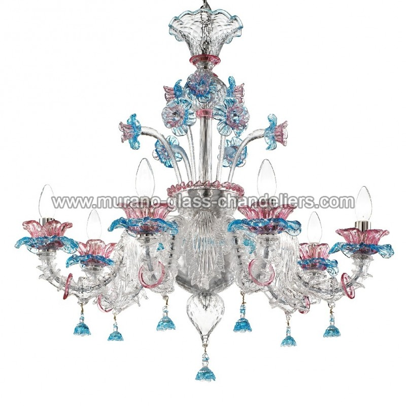 "Small Murano Crystal Chandelier: ""Nada"" Murano Glass Chandelier"