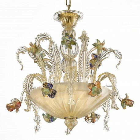 """San Clemente"" Murano glass ceiling light - 3 lights"