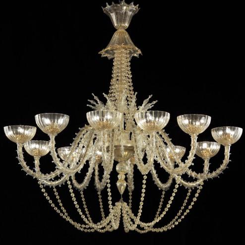 """Champagne"" araña de cristal de Murano"