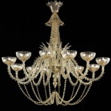 """Champagne"" Murano glass chandelier"