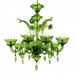 """Casanova"" Murano glass chandelier with rings"