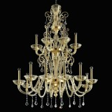 """Re Mida"" Murano glass chandelier"