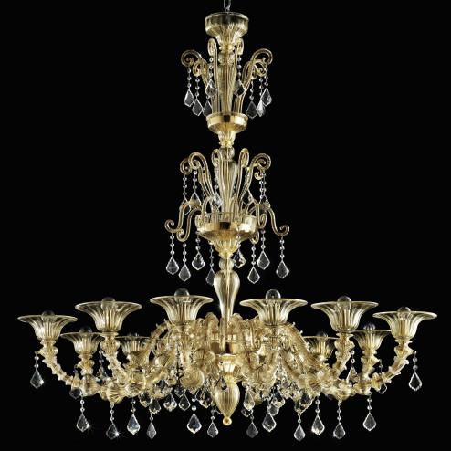 """""""Porsenna"""" lustre en cristal de Murano"""