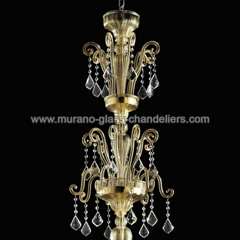 porsenna lustre en cristal de murano murano glass. Black Bedroom Furniture Sets. Home Design Ideas