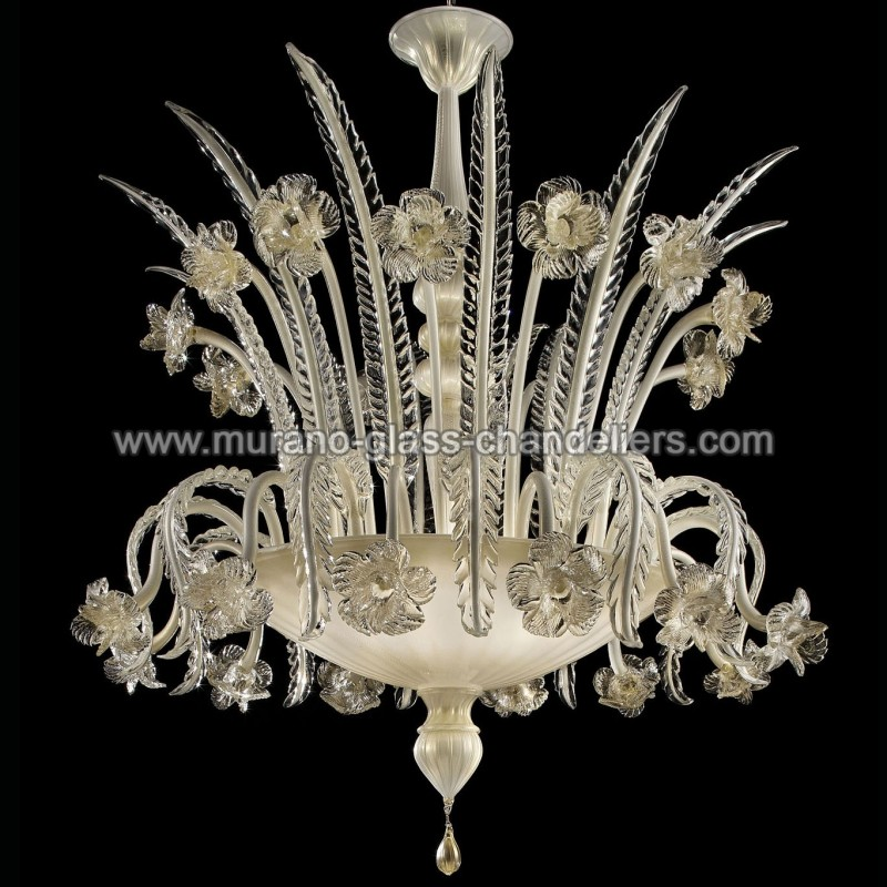 "Murano Glass Chandelier Large: ""Persefone"" Murano Ceiling Light"