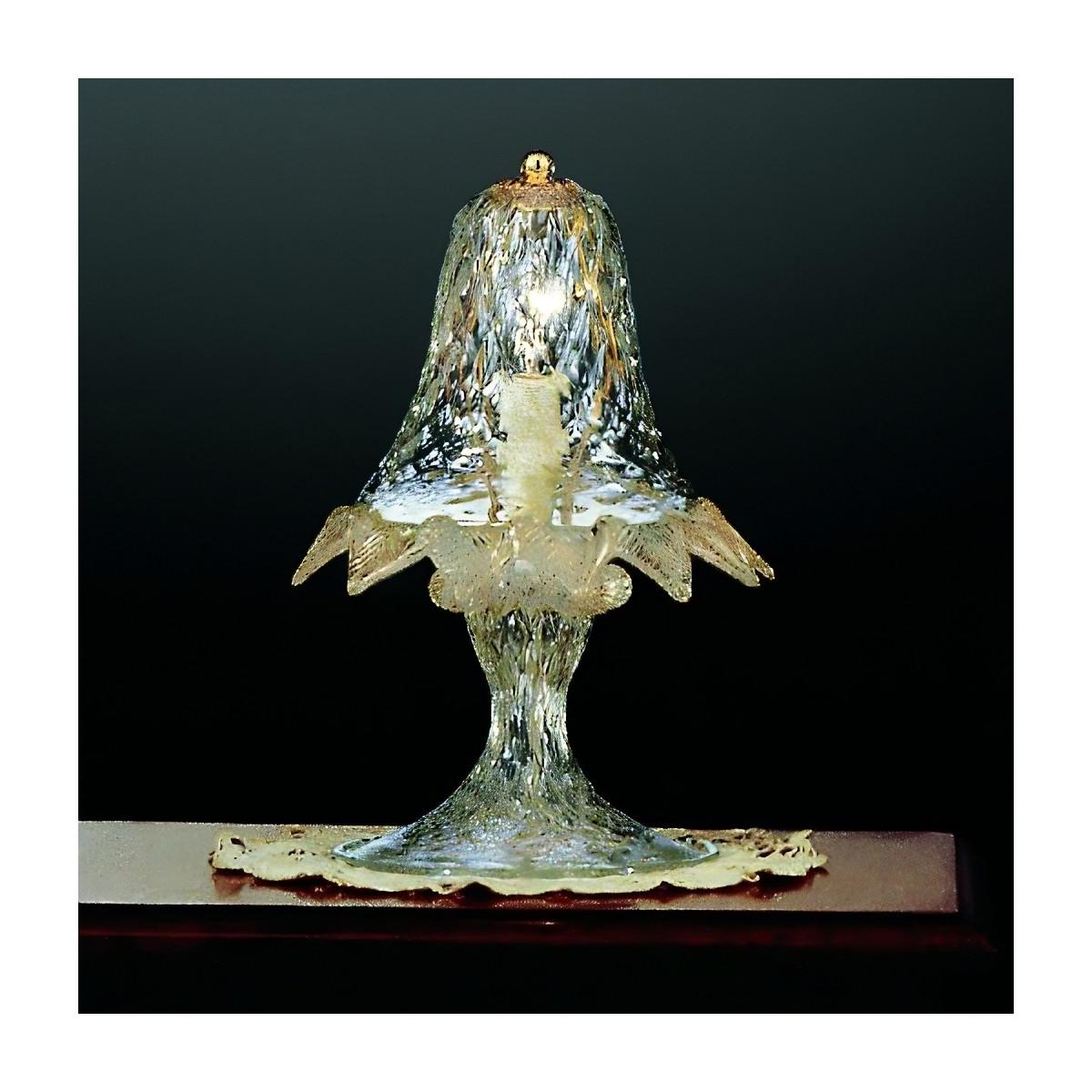 Casanova lampe de chevet en verre de Murano-  couleur transparent or