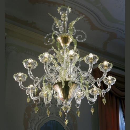 """""""San Severo"""" lampara de araña de Murano"""