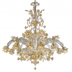 """Rose Dorate"" Murano glass chandelier"
