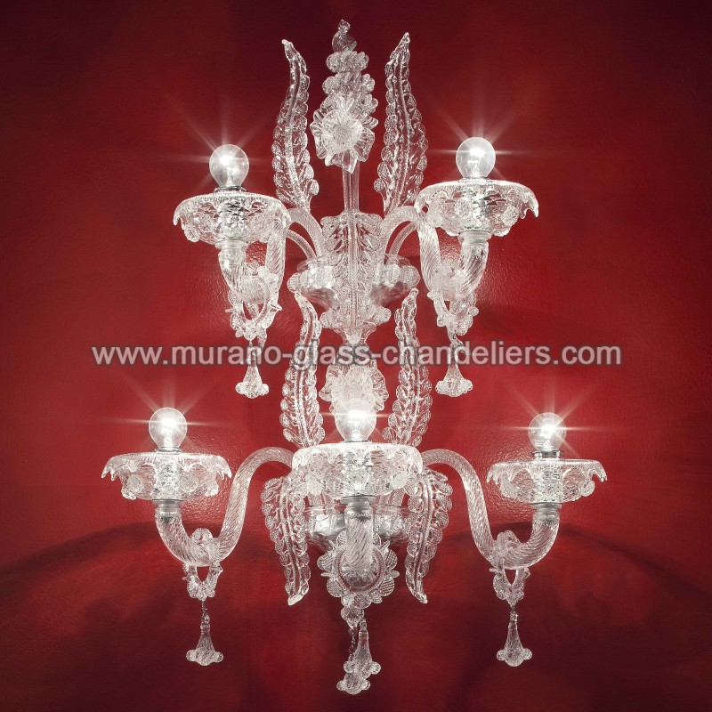 santa lucia applique en verre de murano murano glass chandeliers. Black Bedroom Furniture Sets. Home Design Ideas