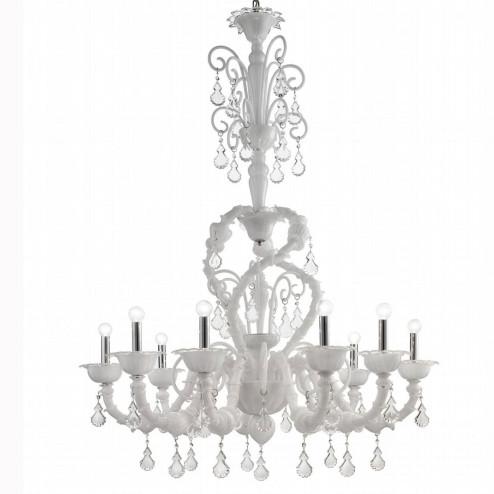 """""""Neve"""" lampara de araña de Murano"""