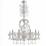 """Neve"" Murano glass chandelier"