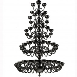 """Raffaello"" 5 tier Murano glass chandelier"