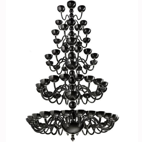 """""""Raffaello"""" lampara de cristal de Murano a cinco niveles"""