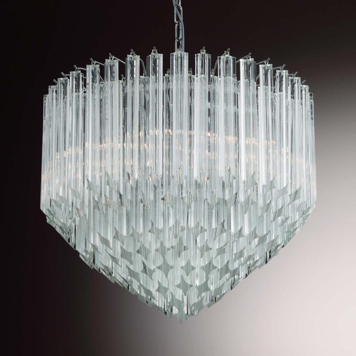 """Harmony"" lustre en verre de Murano - 6 lumieres - transparent"