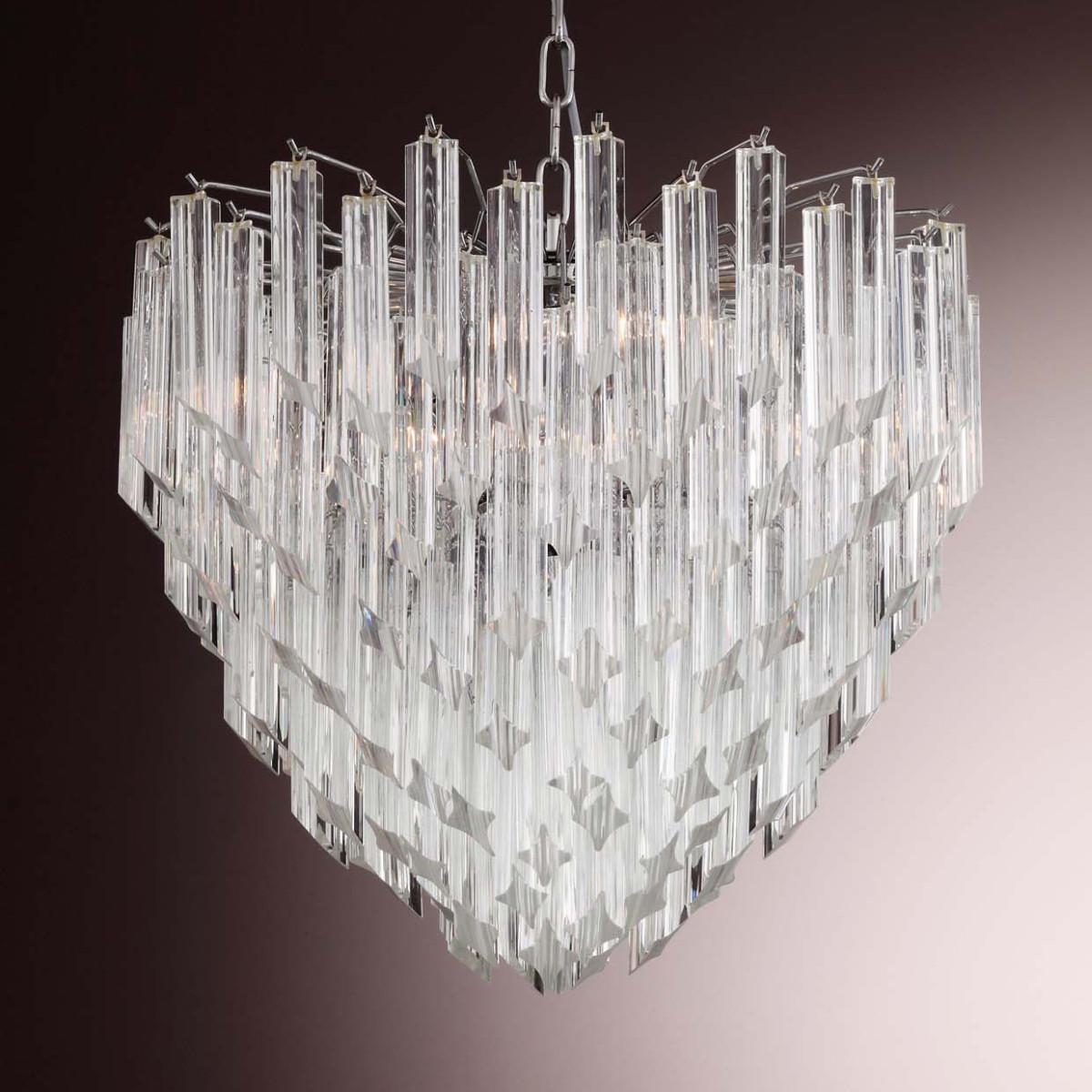 """Nelly"" lampara de cristal de Murano - 6 luces - transparente"
