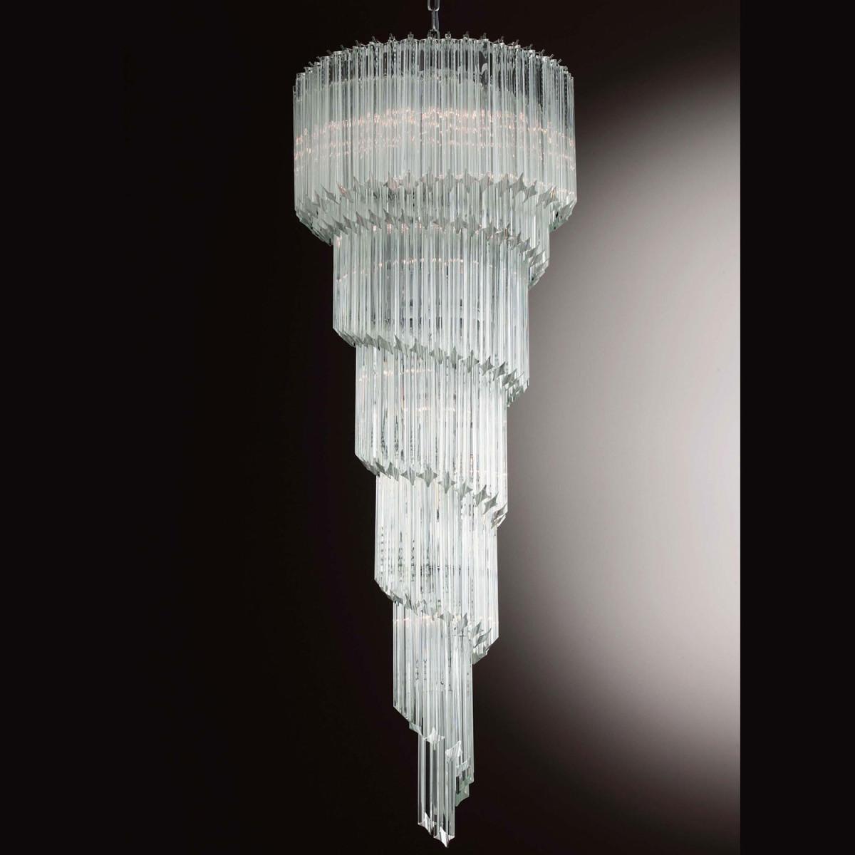 """Marilyn"" lustre en cristal de Murano - 12 lumieres - transparent"