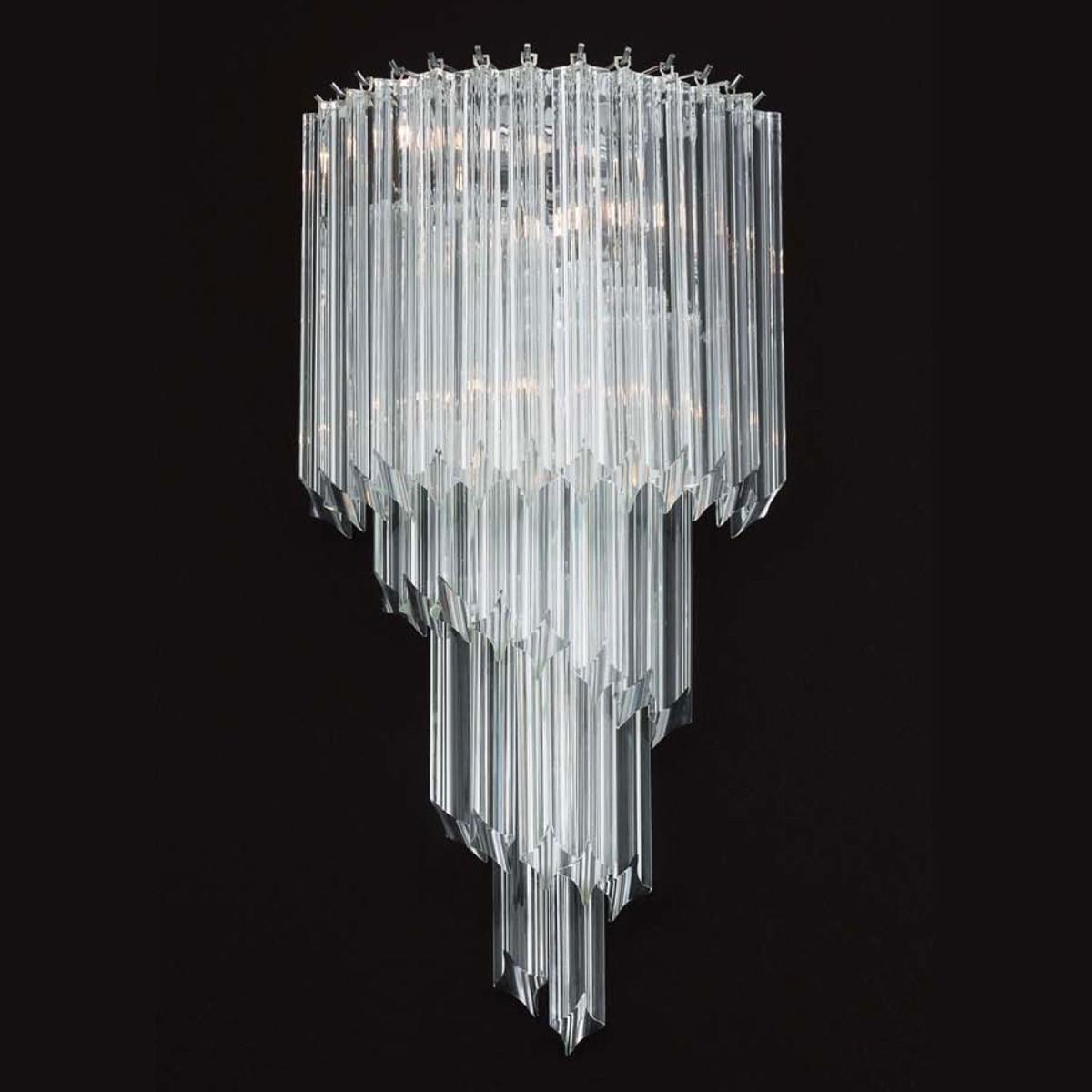"""Marilyn"" aplique de pared de Murano - 3 luces - transparent"