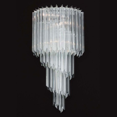 """Marilyn"" Murano glass sconce - 3 lights - transparent"