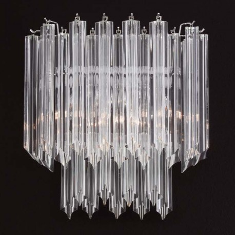 """Peggy"" Murano glass sconce - 3 lights - transparent"