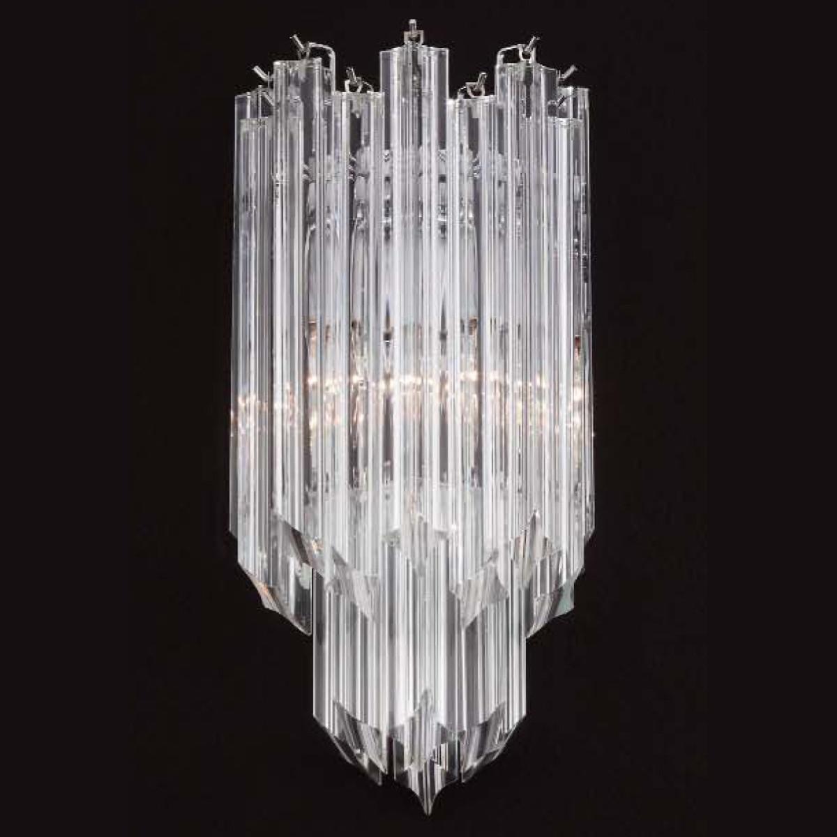 """Aretha"" Murano glass sconce - 2 lights - transparent"