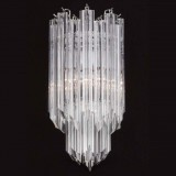 """Aretha"" Murano glass sconce - 2 lights - transparent"