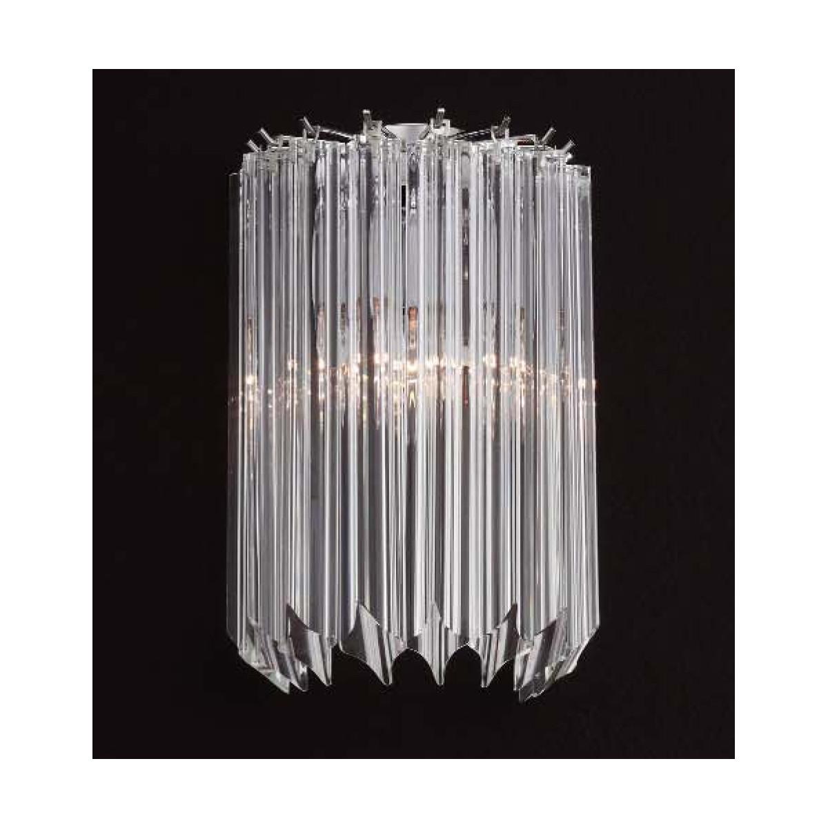 """""""Sydney"""" aplique de Murano - 2 luces - transparente"""