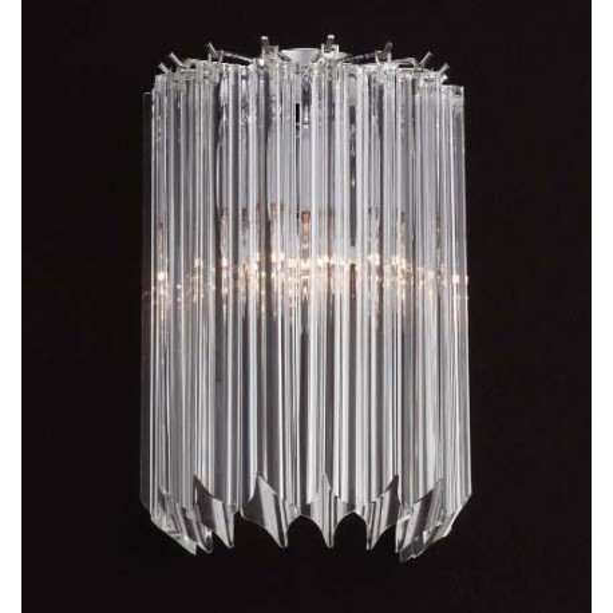 """Sydney"" Murano glas wandleuchte - 2 flammig - transparent"