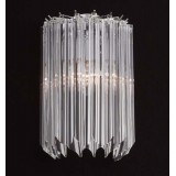 """Sydney"" Murano glass wall sconce - 2 lights - transparent"