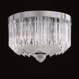 """Whitney"" Murano glass ceiling light - 3 lights - transparent"