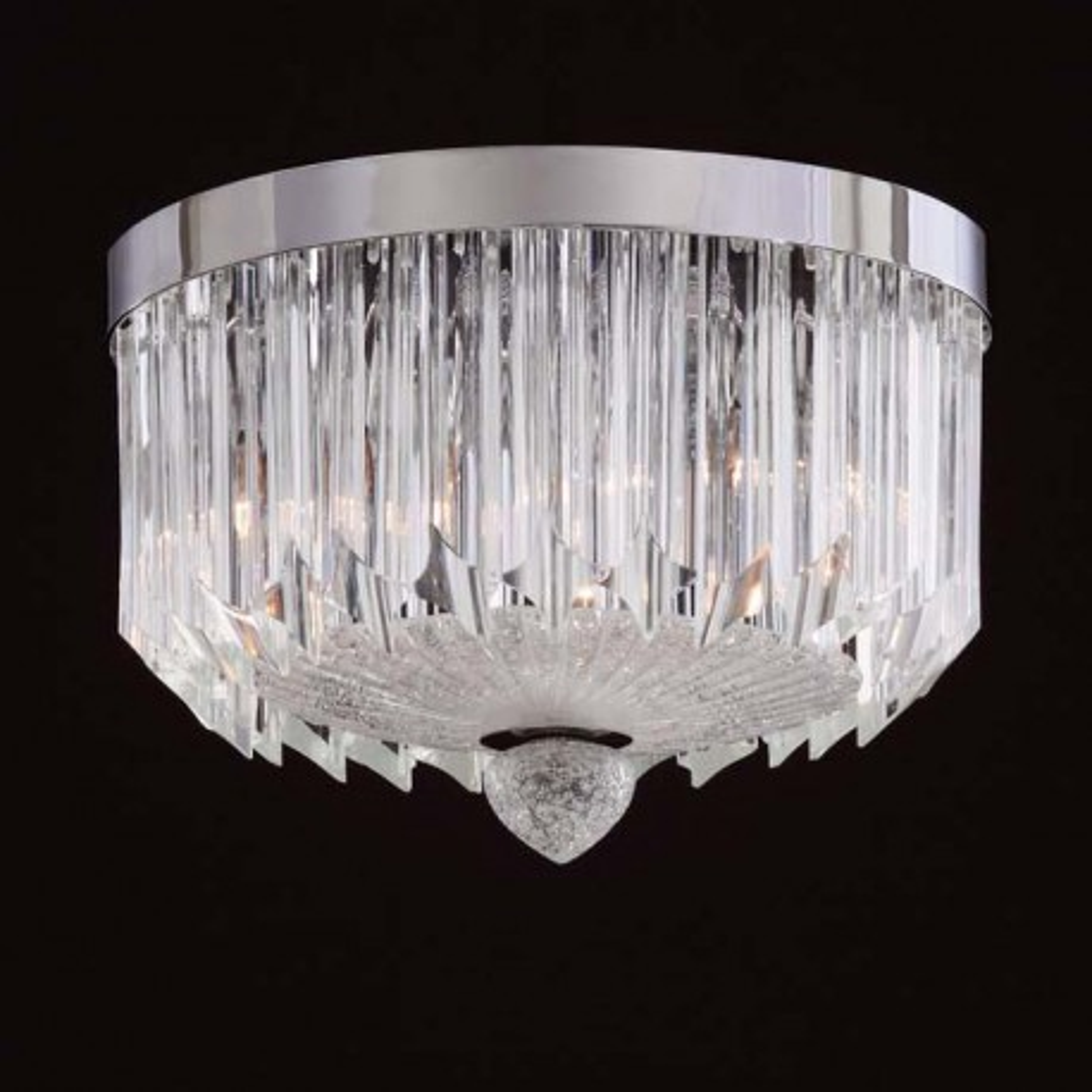 """Whitney"" lampara de techo de Murano - 3 luces - transparent"