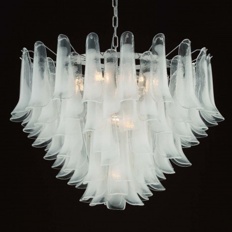 """Calypso"" Murano glass chandelier - 13 lights - white"