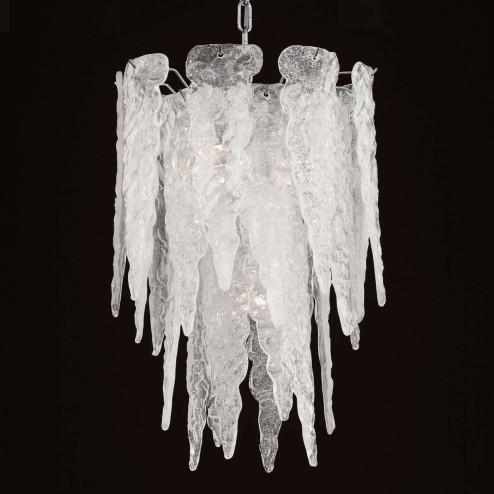 """""""Stalattite"""" lustre en verre de Murano"""
