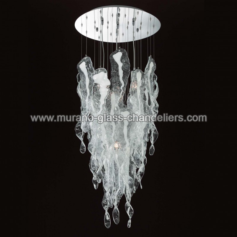 aurel lustre en cristal de murano murano glass chandeliers. Black Bedroom Furniture Sets. Home Design Ideas