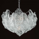 """Sandy"" Murano glass chandelier - 6 lights - transparent"