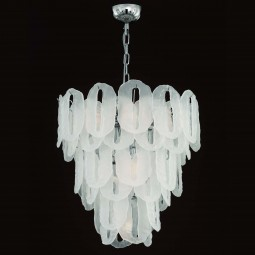 """Vicky"" Murano glass chandelier - 7 lights - Ice color"
